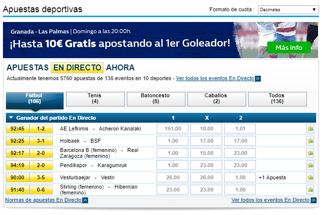 Bonos de William Hill 6