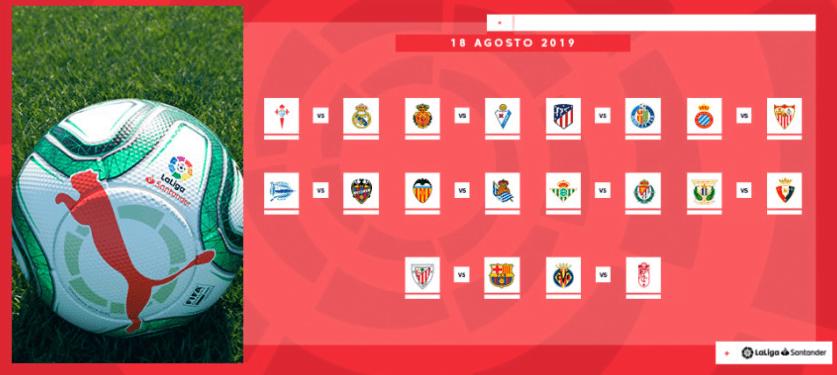 El inicio de La Liga es el 18 de agosto 2019