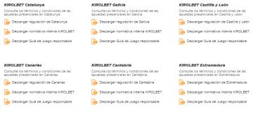 Comunidades autonomas Kirolbet